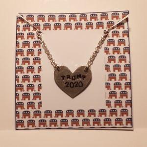 Trump 2020 Heart Necklace